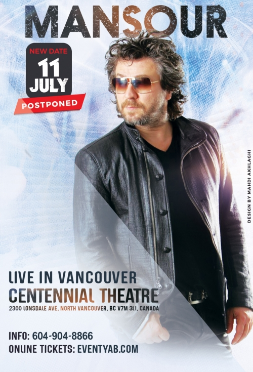 POSTPONED - MANSOUR Live in Vancouver